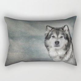 Drawing Dog Alaskan Malamute Rectangular Pillow
