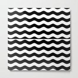 WANDERING THE SEA (BLACK-WHITE) Metal Print