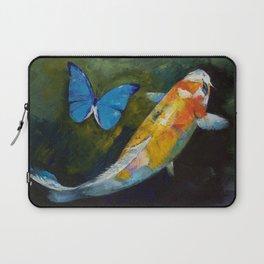 Kujaku Koi and Butterfly Laptop Sleeve
