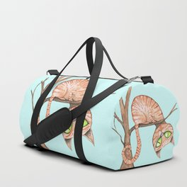 red cat in a tree Duffle Bag