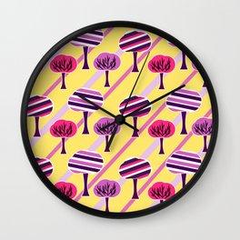 Happy trees Wall Clock