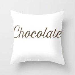 Chocolate Script Throw Pillow