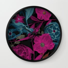 Dark Garden Wall Clock