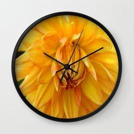 Dahlia Sun Wall Clock