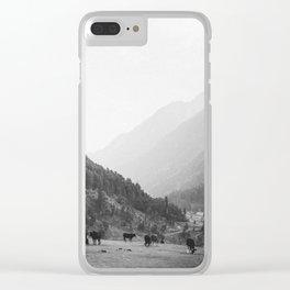 Grazing cattle, Kashmir, India Clear iPhone Case