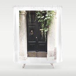 Doors of Rome, Dark wine Shower Curtain