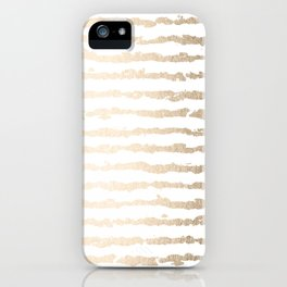 White Gold Sands Ink Stripes iPhone Case
