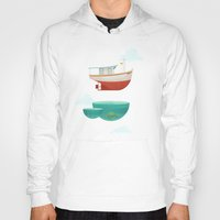 boat Hoodies featuring Floating Boat by ErDavid
