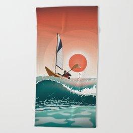 Sea Kayaking Beach Towel