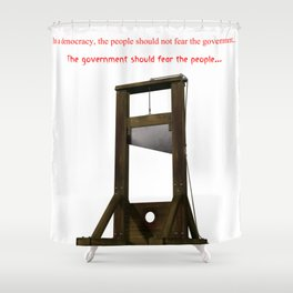 Fear The Guillotine Shower Curtain