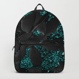 Black Cacti on Aqua Blue Glitter #1 #shiny #decor #art #society6 Backpack