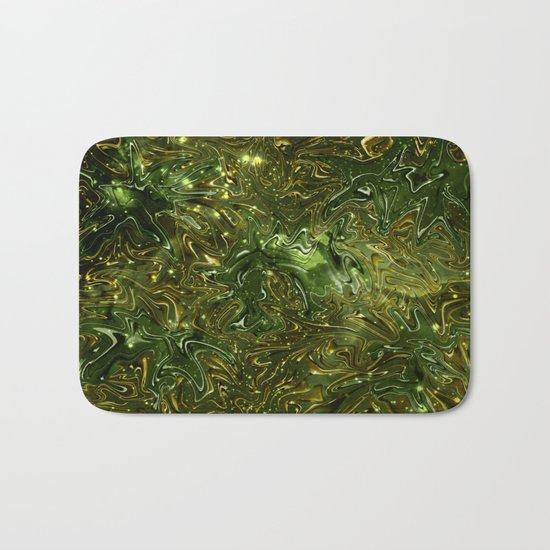 The Wolves Hidden in the Jade Green Galaxy Bath Mat