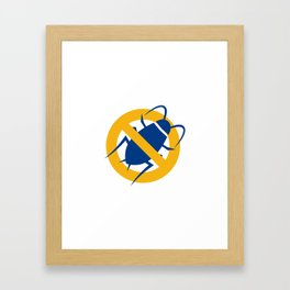 Stop Cockroach Icon Framed Art Print