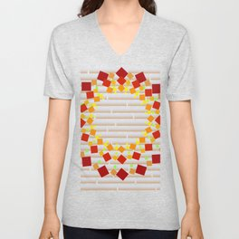 Square wreath on the wall Unisex V-Neck