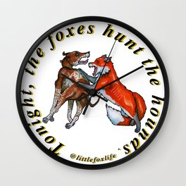 Fox and the Hound Wall Clock