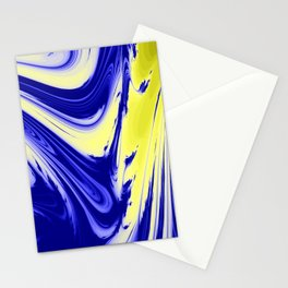 Swirls Of Blue and Yellow Stationery Cards