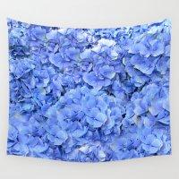 hydrangea Wall Tapestries featuring Hydrangea by Anne Seltmann