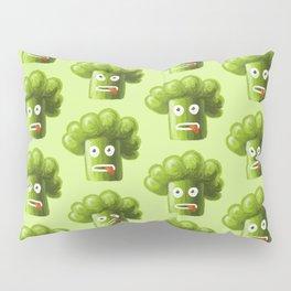 Green Funny Cartoon Broccoli Pillow Sham