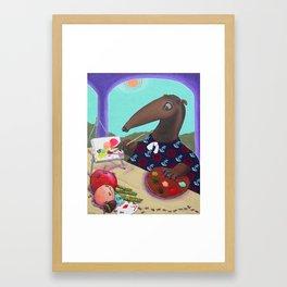 Anteater Artist Abstracting Ants Framed Art Print