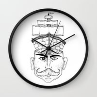 gentleman Wall Clocks featuring Gentleman  by Brandon Harmon Design