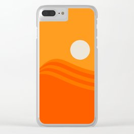 Swell - Orange Crush Clear iPhone Case