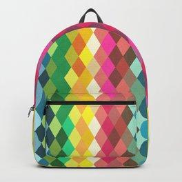 Diamond Color Spectrum Pattern Backpack