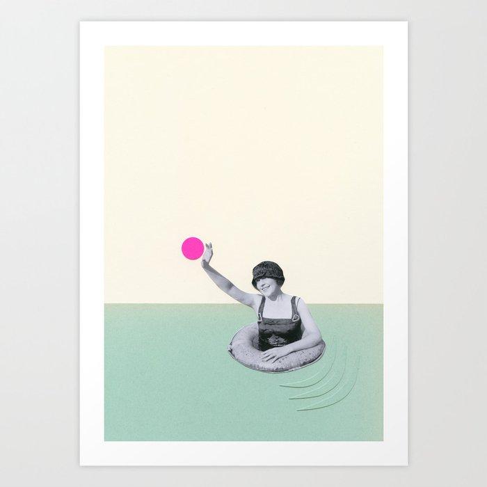 Pool Days Art Print