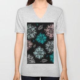 Delicate Flowers Unisex V-Neck