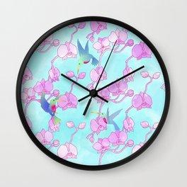 orquídeas Wall Clock