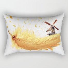 Air Feather • Yellow Feather (horizontal) Rectangular Pillow