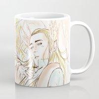 the hobbit Mugs featuring Thranduil_The Hobbit by JoySlash