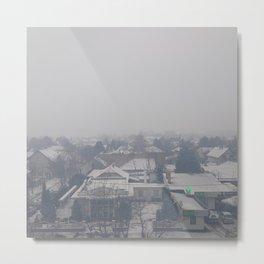 #grey Metal Print
