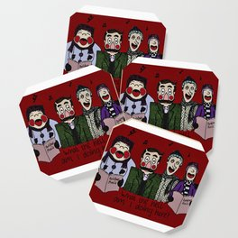 Christmas carolling (Coloured version) Coaster