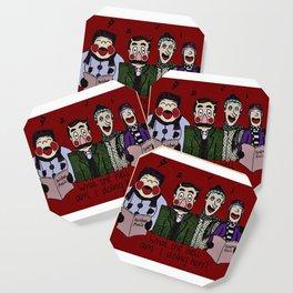 Christmas carolling (Coloured version) Coaster