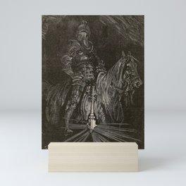 Orlando Furioso - A knight on his horse Mini Art Print