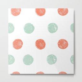 Dot Pattern Metal Print