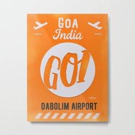 GOI GOA orange Metal Print