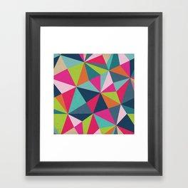 Geometric Triangle Pattern  - Spring Color Palette - Framed Art Print