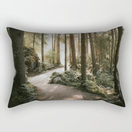 Lost in the Forest - Landscape Photography Rectangular Pillow