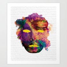 Holi Mask Art Print