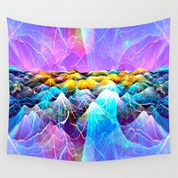 data Wall Tapestries featuring Data Sea by NatalieCatLee
