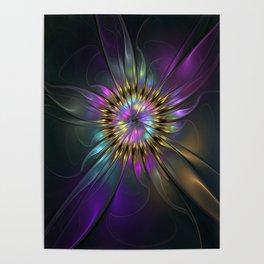 Fantasy Flower Fractal Poster
