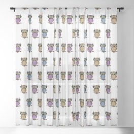 Wise owl Sheer Curtain