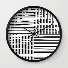 jumbled stripes Wall Clock