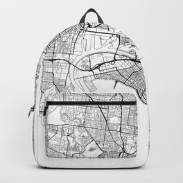 Melbourne Map White Backpack