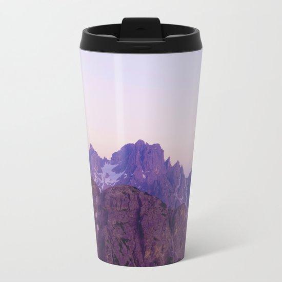 Mountains of Violet Metal Travel Mug