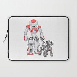 The Dog Walker. (Red) Laptop Sleeve