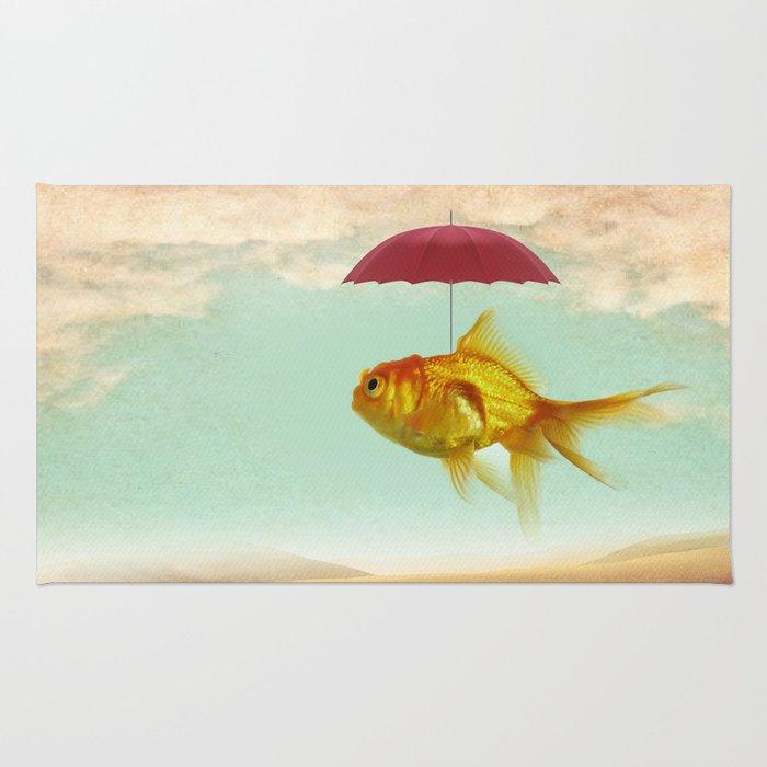 under cover goldfish Rug
