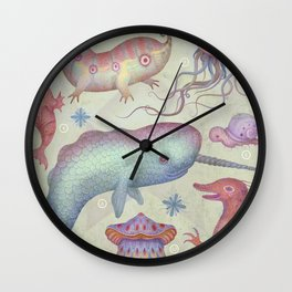 Creatures of the Deep Sea Wall Clock