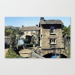 Old Bridge House Ambleside Cumbria England Canvas Print